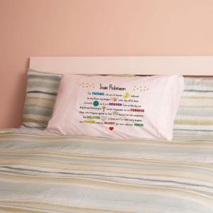 Personalised Lords Prayer Pillowcase