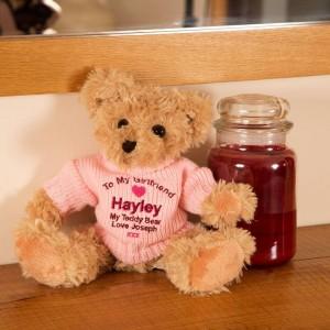 Personalised Girlfriend Teddy Bear