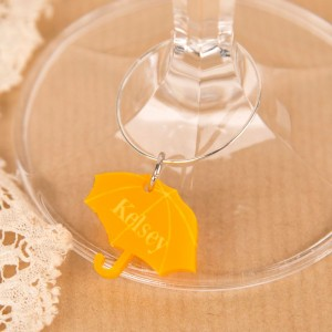 Personalised Junko Style Umbrella Wine Glass Charm