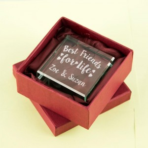 Personalised Best Friends Forever Glass Block