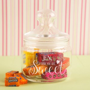 Engraved You Are Sweet Glass Jar