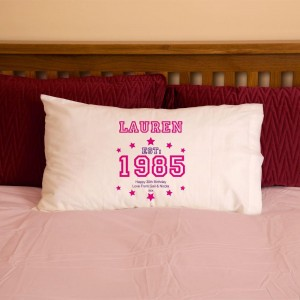 30th Birthday Established Year Pillowcase For Her