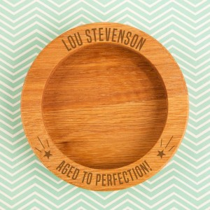 Personalised Aged to Perfection Wooden Wine Bottle Coaster