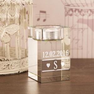 Customised Initial Glass Tealight Holder