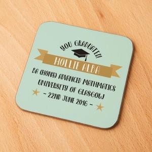 Customised Graduation Drinks Coaster