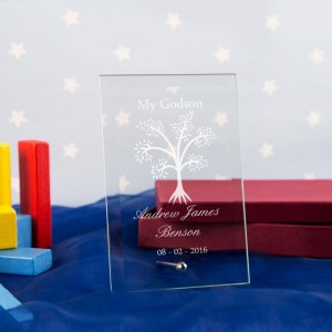 Tree Customised Glass Plaque