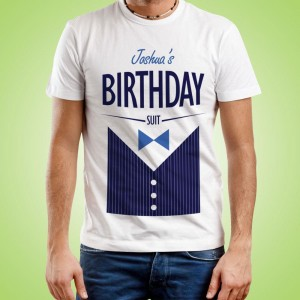 Personalised Birthday Suit T-Shirt for Him