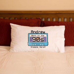 Personalised 90s Child Cassette Pillowcase