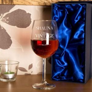 Real Vintage Classic Customised Wine Glass