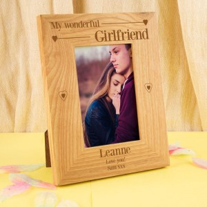 Wonderful Girlfriend Customised Oak Frame