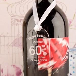 60th Birthday Acrylic Gift Tag
