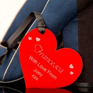 Personalised Red Love Heart Decoration
