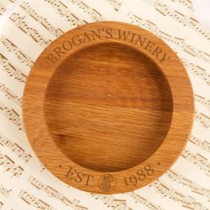 Personalised Winery Wooden Wine Bottle Coaster