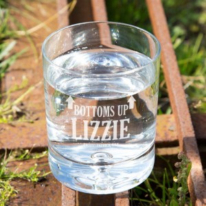 Bottoms Up Customised Tumbler Glass