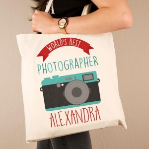 Personalised Best Photographer Cotton Tote
