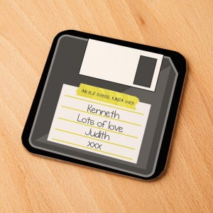 Cool Floppy Disk Customised Drinks Coaster