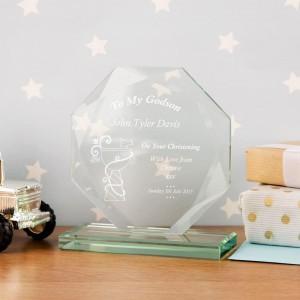 Personalised Godson Cut Glass Skye Facet
