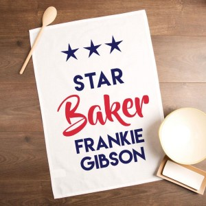 Personalised Star Baker Tea Towel with Any Name