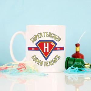 Personalised Super Hero Teacher Mug
