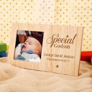 Customised Special Godson Engraved Photo Frame