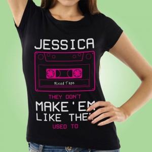 Mixtape Black Womens Customised T-Shirt