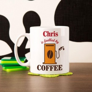 Fuelled by Coffee Personalised Mug