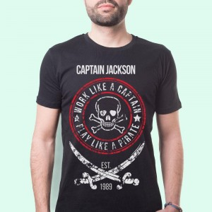 Mens Pirate Themed Customised T-Shirt