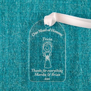 Maid of Honour Acrylic Gift Tag