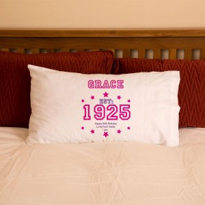 90th Birthday Established Year Pillowcase For Her