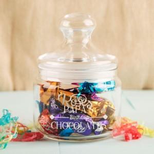 Vintage Personalised Glass Sweet Jar