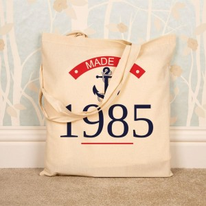 Personalised Made In Year Shopper Bag