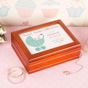 Personalised Baby Pram Musical Jewellery Box