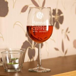 18th Birthday Personalised Wine Glass