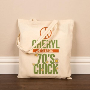 Personalised 70s Chick Cotton Shopper