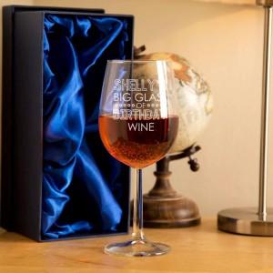 Personalised Birthday Wine Glass