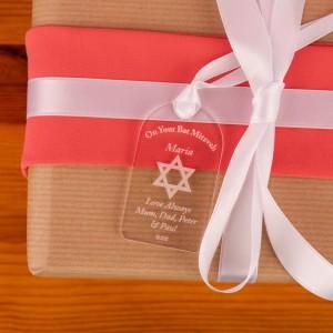 Bat Mitzvah Acrylic Gift Tag