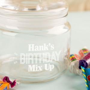 Bespoke Birthday Glass Sweetie Jar