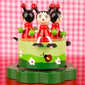 Merry Go Round Ladybird Music Box