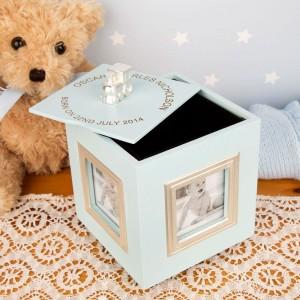 Personalised Baby Boys Musical Keepsake Box