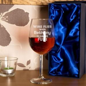 Personalised Wine Flies Glass