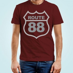 Personalised Route Maroon Mens T-Shirt