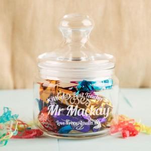 Favourite Teacher Customised Glass Sweet Jar