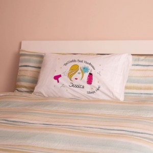 Personalised Worlds Best Hairdresser Pillowcase