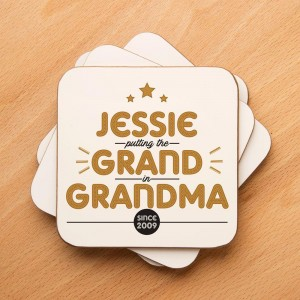 Grand Grandma Personalised Drinks Coaster