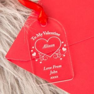 Valentine Acrylic Gift Tag