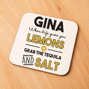 When Life Gives You Lemons Custom Drinks Coaster