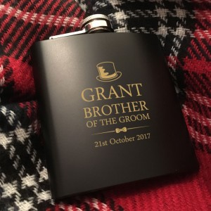 Brother of the Groom Personalised Hip Flask Gift Set
