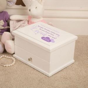 Twinkle Twinkle Personalised Christening Jewellery Keepsake Box