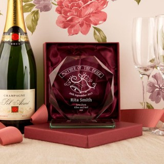 Personalised Mother Of The Bride Glass Skye Facet