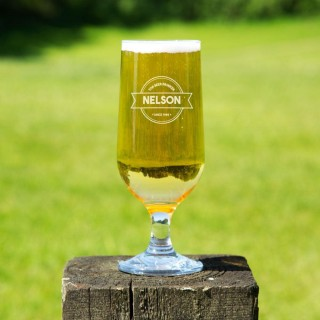 Custom Top Beer Drinker Beer Glass